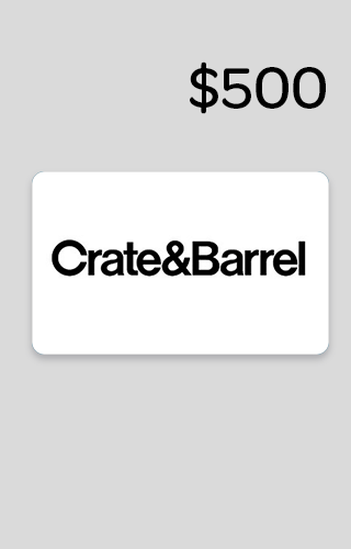 $500 Crate & Barrel Gift Card Sweepstakes
