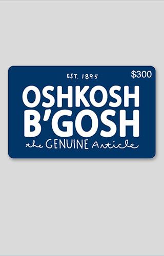 $300 Osh Kosh Gift Card